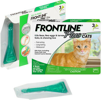 Frontline Plus for Cats and Kittens over 1.5 Ibs Flea and Tick Treatment,6-Doses