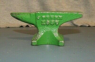 J.DEERE 1937 PROMO ANVIL PAPERWEIGHT ADVERTISING Cast Iron