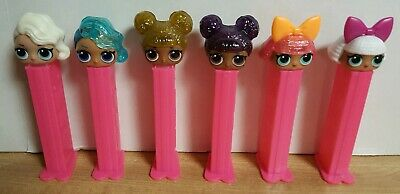6 Pez LOL Surprise Girls ~ New but Loose with Covers ~ New Release