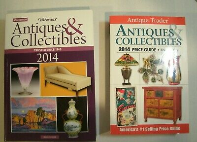 2014 Antique Trader & Warman's  ANTIQUES & COLLECTIBLES Price Guides *UNUSED