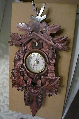 Christmas!Germany,Black Forest,Cuckoo,Kuckucksuhr Swing Wall Quartz Clock,DEER