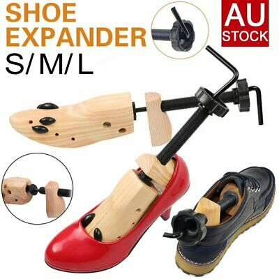 Wooden Shoes Stretcher Expander Shoe Timber Unisex Bunion Plugs 2-Way AU STOCK