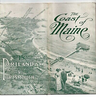 Early 1900's Portland Railroad Company Trolley Booklet, Maine