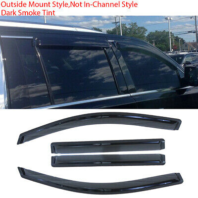 JDM Visors 2.0 mm 4pc Out Channel Rain Guard For Toyota Yaris Hatchback 2011-15