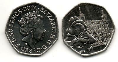 PADDINGTON AT THE TOWER OF LONDON 50p COIN ISSUED 2019, FINE