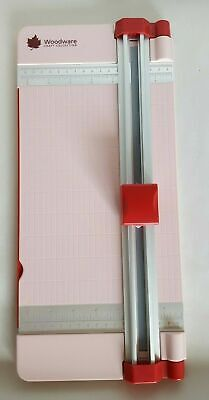 Woodware Craft Collection Fingerguard Paper Trimmer Cutter Guillotine Pink