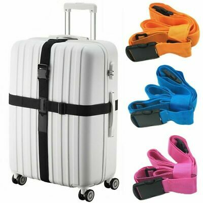 2X Travel Luggage Straps Long Cross Suitcase Packing Belt Baggage Backpack Strap