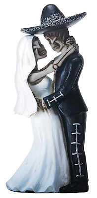 Mariachi Couple DOD Day of the Dead Mexican Halloween Figurine Cake Topper