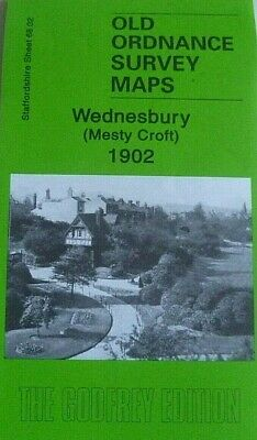 Old Ordnance Survey Maps Wednesbury Mesty Croft 1902 Godfrey Edition Discount