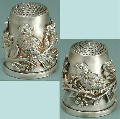 Vintage Sterling Silver Birds Thimble * Germany * Circa 1980s