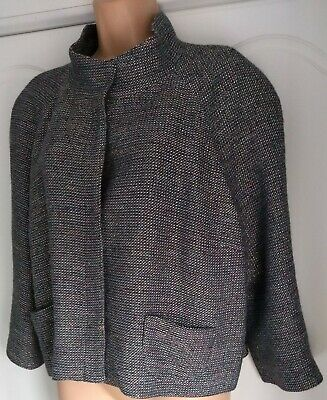 Marks & Spencer Limited Collection Silver Mix Box Jacket Size 20 Vgc