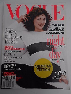 VOGUE (American Issue) - February 1996 - SHALOM HARLOW cover