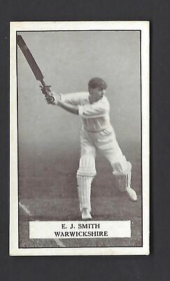 Gallaher - Famous Cricketers - #37 E J Smith, Warwickshire