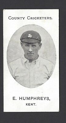 Taddy - County Cricketers - E Humphreys, Kent