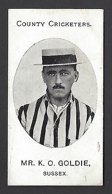 Taddy - County Cricketers - Mr K O Goldie, Sussex