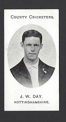 Taddy - County Cricketers - J W Day, Nottinghamshire