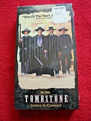 Tombstone VHS 1993 Tape sealed new Val kilmer Kurt Russell western