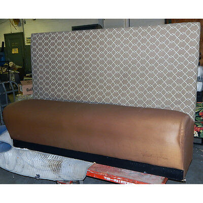 Restaurant Booth Large Bench Chair Single Section Caramel Brown 71x27x48