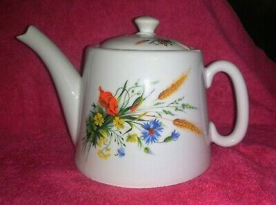 Vintage Wheat Pattern With Flowers  (BIA Cordon Bleu) Teapot From France