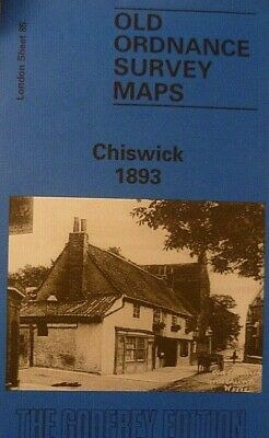 OLD ORDNANCE SURVEY  MAPS CHISWICK LONDON 1893 Godfrey Edit Clearance Offer