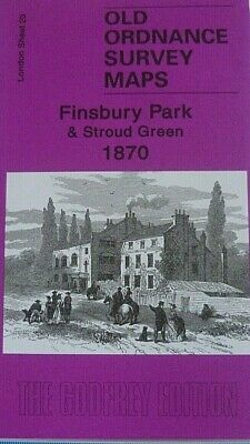 OLD Ordnance Survey Maps Finsbury Park & Stroud Green London 1870 Godfrey Offer
