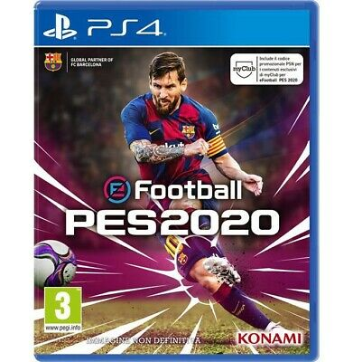 Konami PES 2020 PS4 eFootball Pro Evolution Soccer PlayStation 4 #0439