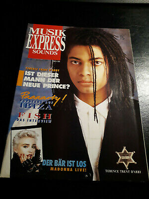 Musik Express 8/1987 Fish,Madonna,Terence TrentD'Arby,David Bowie,Rolling Stones