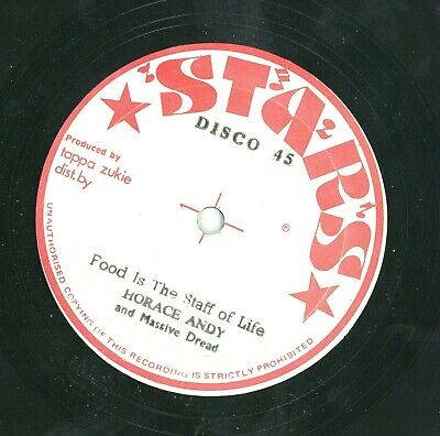 """"""" GOOD FOOD IS THE STAFF OF LIFE."""" horace andy. STARS 12in 1978."""