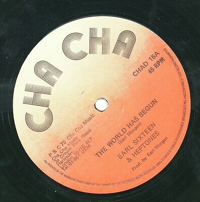 """"""" THE WORLD AS BEGUN."""" earl sixteen & the heptones. CHA CHA 12in 1979."""