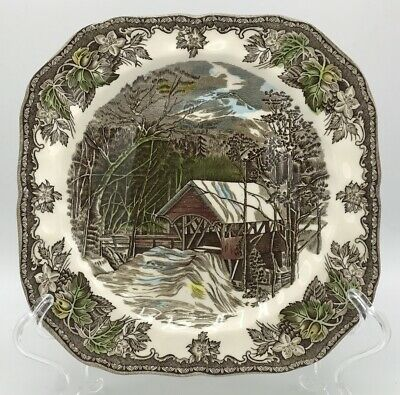 Johnson Brothers Friendly Village Square Salad Plate (s) Covered Bridge England