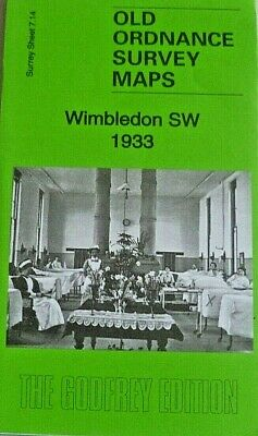 OLD ORDNANCE SURVEY DETAILED MAPS WIMBLEDON SW Surrey 1933 Godfrey Edition