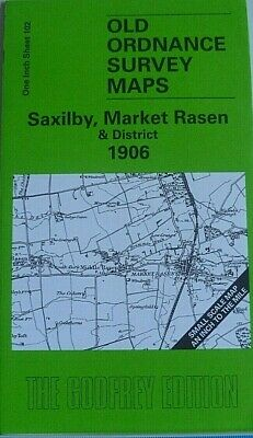 OLD ORDNANCE SURVEY MAPS SAXILBY MARKET RASEN  District 1906 Godfrey Discount