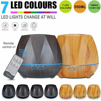 LED Oil Ultrasonic Aroma Aromatherapy Diffuser Essential Air Humidifier Purifier