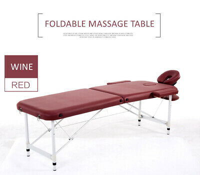 84''L Massage Table 2 Fold Height Adjustable Portable Aluminium SPA Beauty Bed
