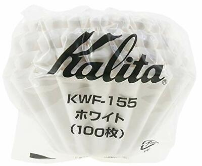 Carita coffee filter Wave Series 1 to 100 pieces white for 2 people KWF-155 # 22