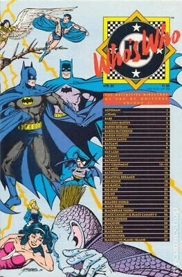 Who's Who The Definitive Directory of the DC Universe #2 FN 6.0 1985 Stock Image