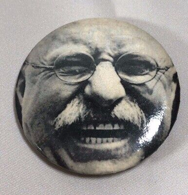 Theodore Roosevelt  President political pin button badge