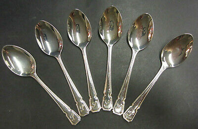 Vintage Set Of 6 Silver Plated Dubarry Variant Patterned Teaspoons