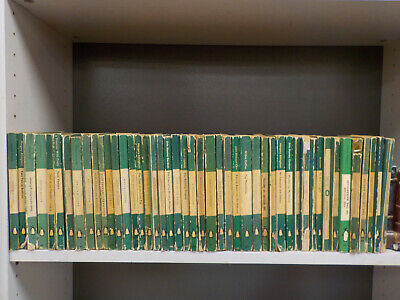 Green 'Crime' Stripe Penguins (1940's) - 46 Books Collection! (ID:5920)