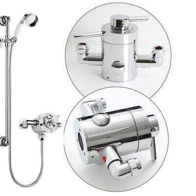 Chrome Concentric Thermostatic Brass Shower Valve Modern /& Victorian Victorian