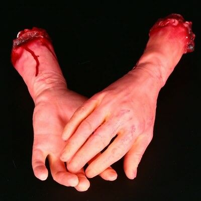 Halloween Realistic Terror Bloody Fake Body Parts Severed Arm Random one L and R