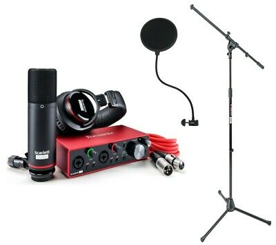 Focusrite Scarlett 2i2 Studio (3RD Generation) with Mic Stand and Pop Filter