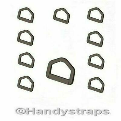 D Ring Buckles 10 x  50mm Plastic Black Handy Straps