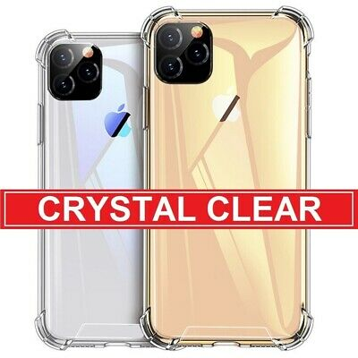Clear Case For iPhone 11 Pro Max Bumper Shockproof Silicone Gel Soft Cover CA AN