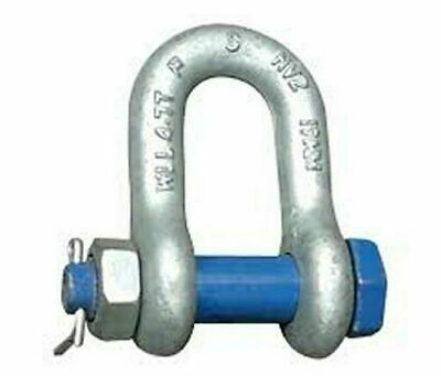 4.75Tons Galvanised Tested Screw Pin Alloy Bow Shackles Lifting Recovery 1Ton