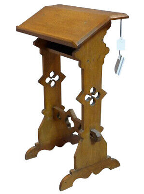 Stunning Antique Victorian Austin & Oates Gothic Oak Church Lectern
