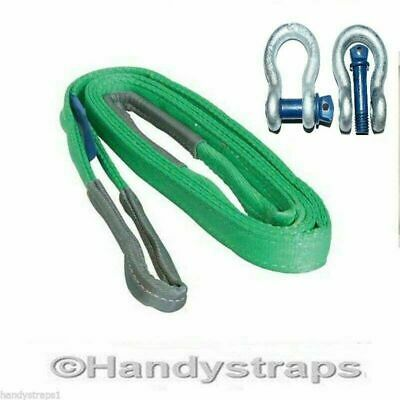 Recovery Towing Sling 3 Metre x 14,000kg SIMPLEX 2 x 4.75 Shackle - Offroad