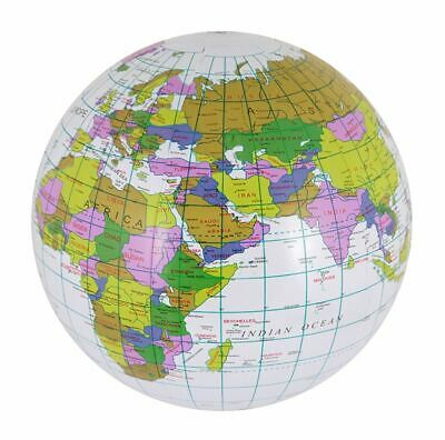 Inflatable Globe Map Ball World Earth Geography Blow up Atlas Education Toy