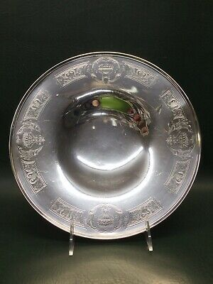 Middletown Silver Co. Sterling Silver Cake Serving Plate w/ Fruit Baskets on Rim