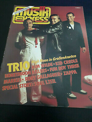 Musik Express 7/1982 Trio,Frank Zappa,Rory Gallagher,Kim Wilde,Bryan Ferry